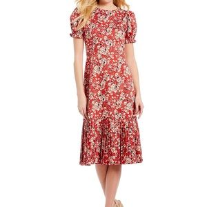 NEW Antonio Melani Chloe Floral Sunset Midi Dress